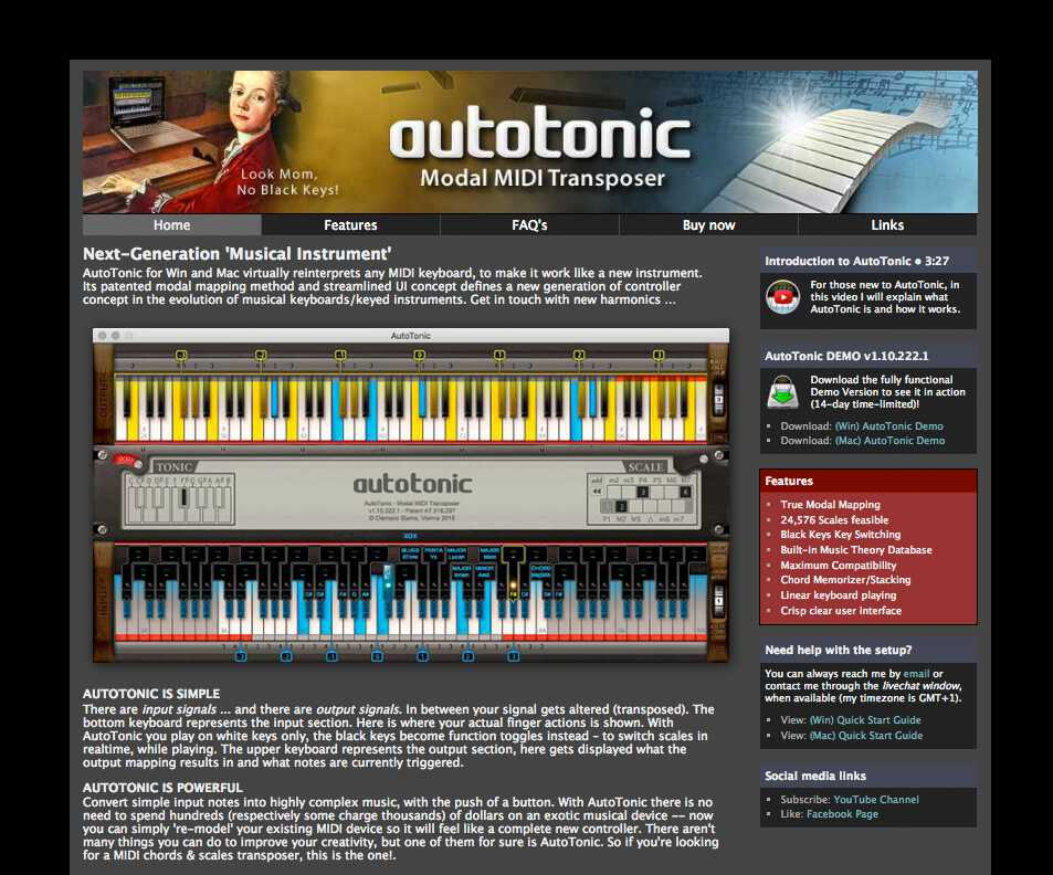 AutoTonic Modal MIDI Transposer (Chord & Scale Generator)